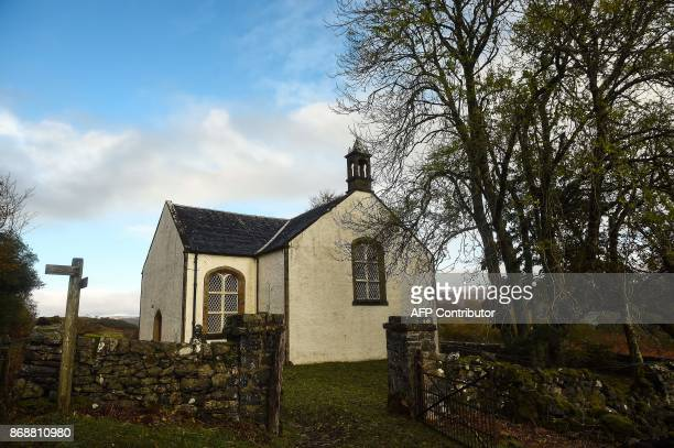 Views of the local church on the Isle of Ulva off Scotland's west coast on October 20 2017 When tycoons in helicopters began landing on Scotland's...