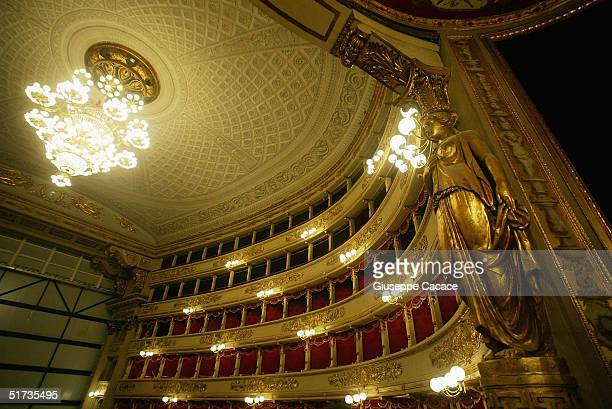A views of the newly renovated Teatro Alla Scala on November 12 2004 in Milan Italy The building the most famous opera theatre in Italy will be...