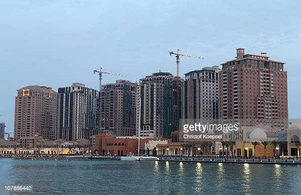 Views of the Pearl area on January 5 2011 in Doha Qatar The International Monetary Fund recently reiterated its projection for the Qatari economy...