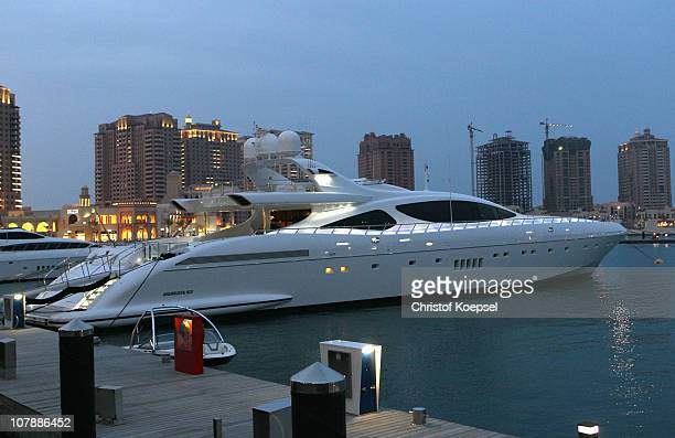 Views of the Pearl area with yachts on January 5 2011 in Doha Qatar The International Monetary Fund recently reiterated its projection for the Qatari...
