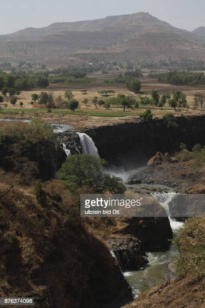 Views of the source of the Blue Nile in the mountains near the Rift Valley in Ethiopia