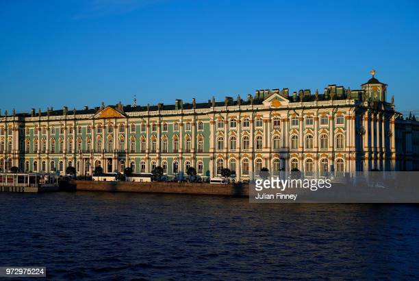 Views of the State Hermitage Museum and Winter Palace during previews ahead of the 2018 Fifa World Cup on June 12 2018 in St Petersburg Russia