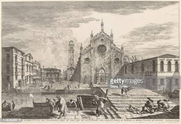 Campo dei Frari 1741 Michele Marieschi Etching