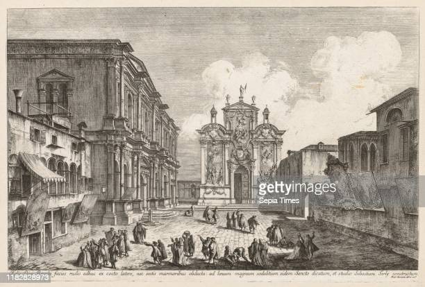 Campo S Rocco 1741 Michele Marieschi Etching