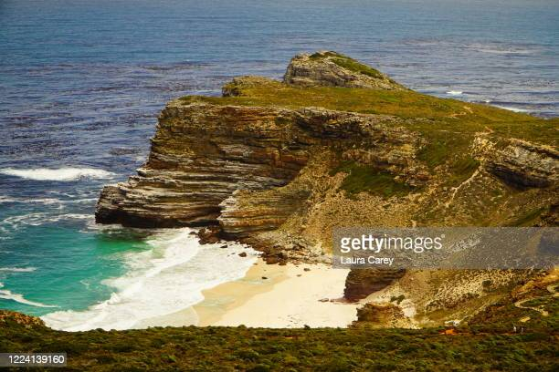 Views on the journey through Cape Point National Park on the way to the southern most tip of Africa on January 19, 2017 in Cape Point, Cape Town,...