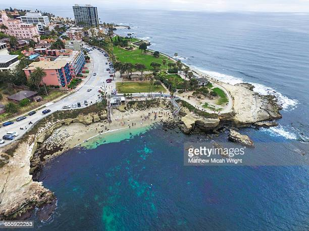 views over la jolla cove in san diego. - la jolla stock pictures, royalty-free photos & images