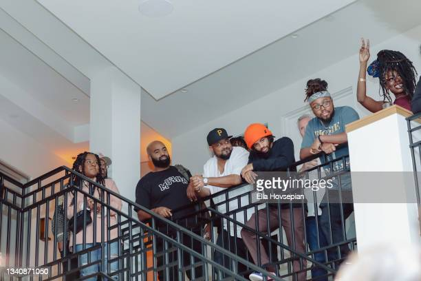 Views , Punch, Jrias Law, Earlee, and Lyric Michelle attend The One And Only, Dick Gregory, Album Release Event on September 16, 2021 in Burbank,...