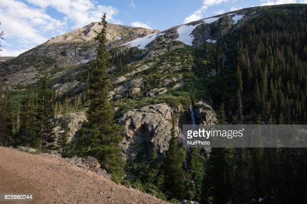 Views while ascending and descending the Rocky Mountain National Park's Alpine Visitor Center, in Grand Lake, Colorado, on July 18, 2017. It is the...
