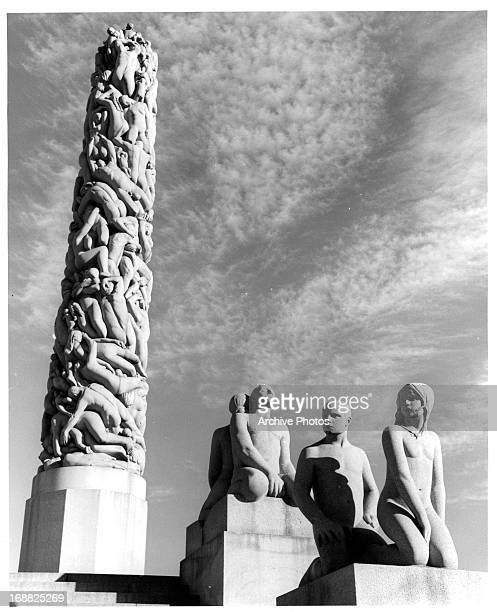 Vigeland Park Sculptures in Oslo Norway 1955
