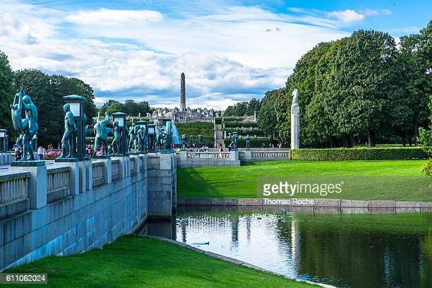 vigeland sculpture park in oslo - gustav vigeland sculpture park stock pictures, royalty-free photos & images