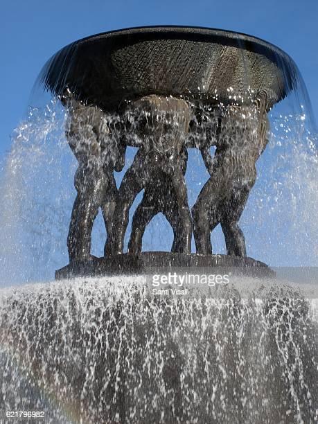 Vigeland Sculpture Park on October 4 2016 in Oslo Norway