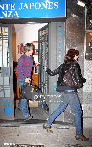 Viggo Mortensen and Ariadna Gil are seen leaving a restaurant on December 8 2011 in Madrid Spain