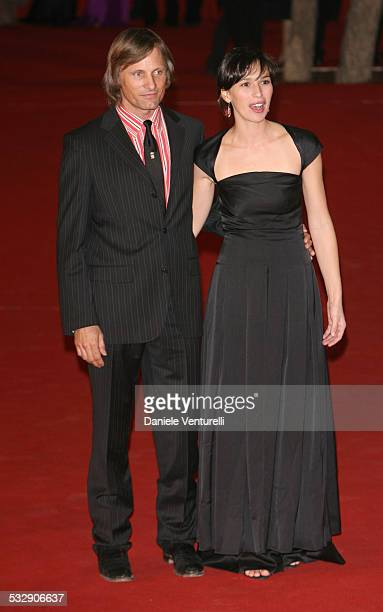 Viggo Mortensen and Ariadna Gil during 1st Annual Rome Film Festival 'Alatriste' Premiere at Auditorium Parco della Musica in Rome Italy