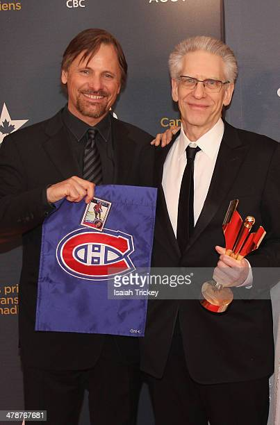 Viggo Mortensen and David Cronenberg attend the Canadian Screen Awards CBC Broadcast Gala at Sony Centre for the Performing Arts on March 9 2014 in...