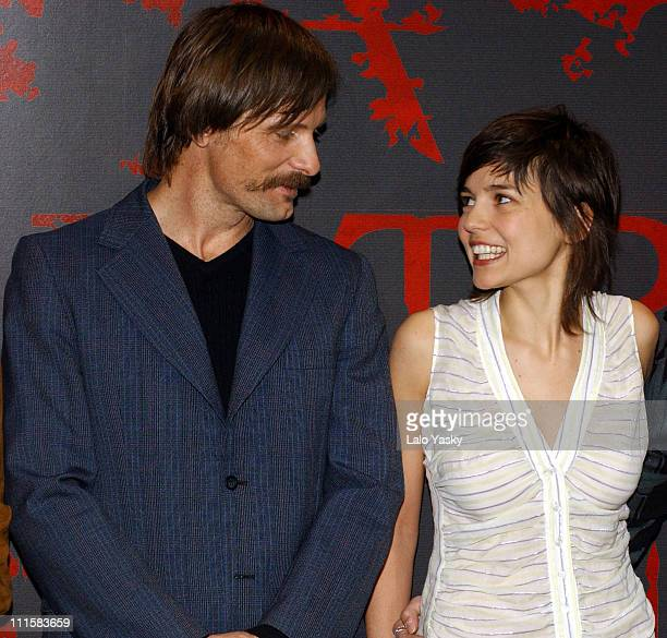 Viggo Mortensen and Elena Anaya during 'Alatriste' Press Conference and Photocall at City Hall in Madrid Spain