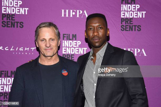 Viggo Mortensen and Mahershala Ali attend Film Independent Hosts Special Screening Of Green Book at ArcLight Hollywood on November 7 2018 in...