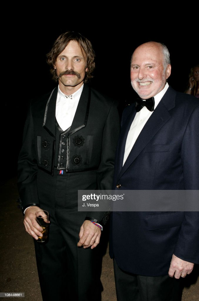 Viggo Mortensen and Michael Lynne during 2005 Cannes Film Festival - 'A History of Violence' Party at Majestic Beach in Cannes, France.