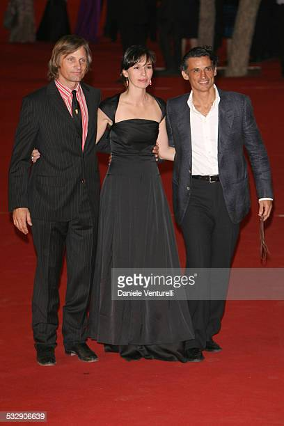 Viggo Mortensen Ariadna Gil and Enrico Lo Verso during 1st Annual Rome Film Festival Alatriste Premiere at Auditorium Parco della Musica in Rome Italy
