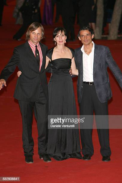 Viggo Mortensen Ariadna Gil and Enrico Lo Verso during 1st Annual Rome Film Festival 'Alatriste' Premiere at Auditorium Parco della Musica in Rome...