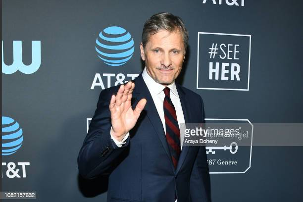Viggo Mortensen at Claire Foy Accepts The #SeeHer Award At The 24th Annual Critics' Choice Awards The Barker Hanger on January 13 2019 in Santa...