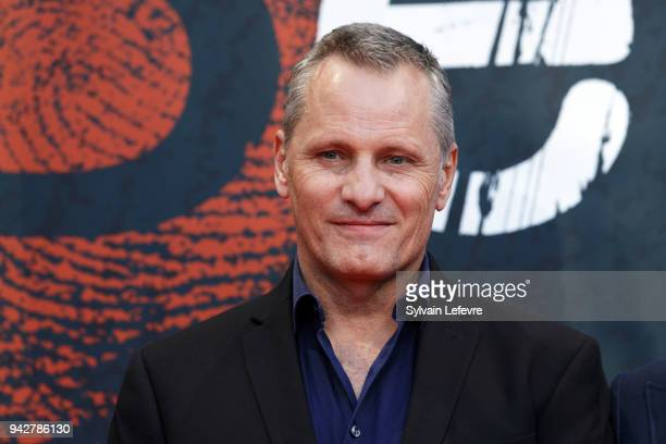 Viggo Mortensen attends photocall of Tribute to David Cronenberg during 10th Beaune International Thriller Film Festival on April 6 2018 in Beaune...