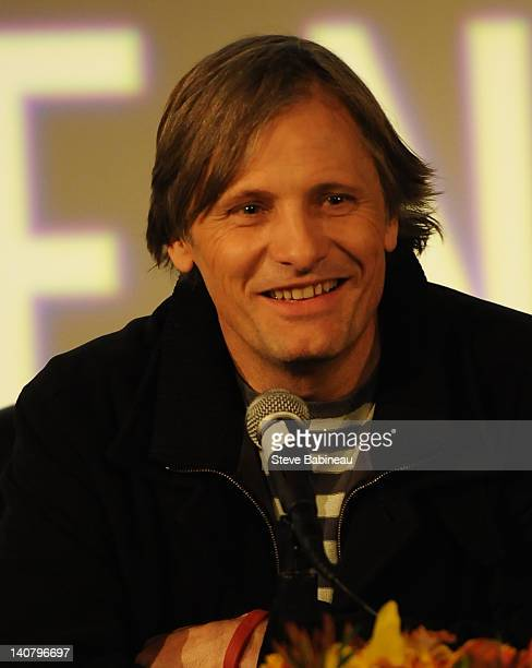 Viggo Mortensen attends the 2012 Coolidge Award presentation press conference at the Coolidge Theater on March 5, 2012 in Brookline, Massachusetts.