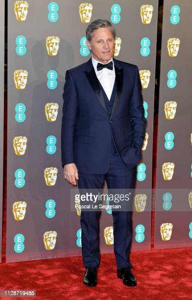 Viggo Mortensen attends the EE British Academy Film Awards at Royal Albert Hall on February 10 2019 in London England