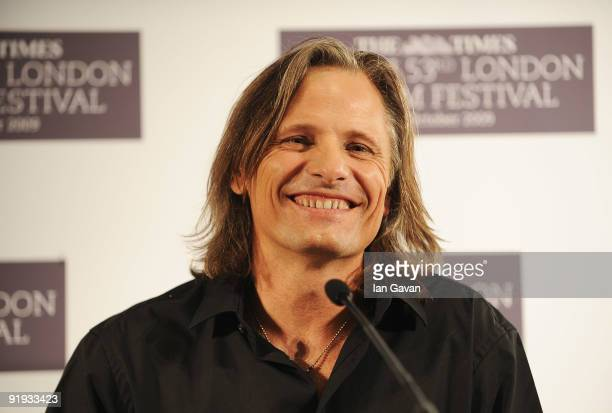 Viggo Mortensen attends 'The Road' press conference during the Times BFI 53rd London Film Festival at the Mayfair Hotel on October 16, 2009 in...