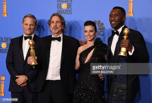 TOPSHOT Viggo Mortensen Best Director and Best Screenplay Motion Picture for Green Book nominee Peter Farrelly Linda Cardellini and Best Actor in a...