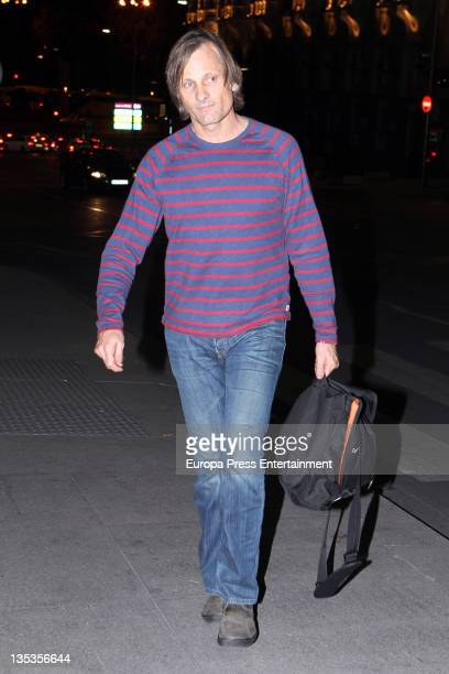 Viggo Mortensen is seen leaving a restaurant on December 8 2011 in Madrid Spain