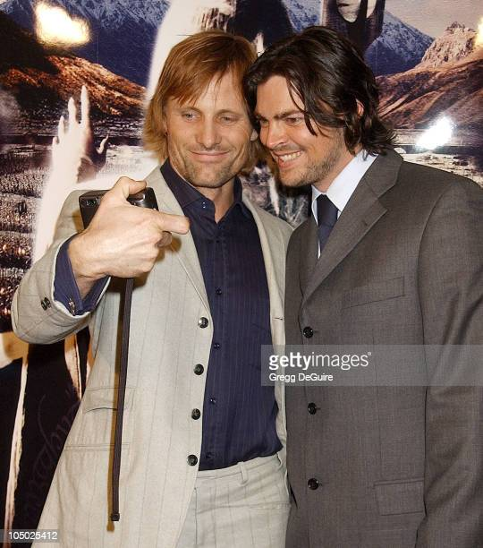 Viggo Mortensen Karl Urban during 'The Lord Of The Rings The Two Towers' Los Angeles Premiere Arrivals at Cinerama Dome Theatre in Hollywood...