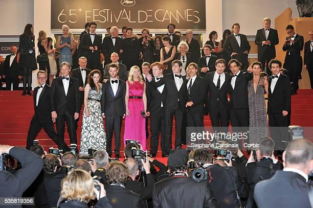 Viggo Mortensen Kirsten Dunst Walter Salles Garret Hedlund Kristen Stewart Sam Riley Tom Sturridge and Danny Morgan at the premiere for 'On The Road'...