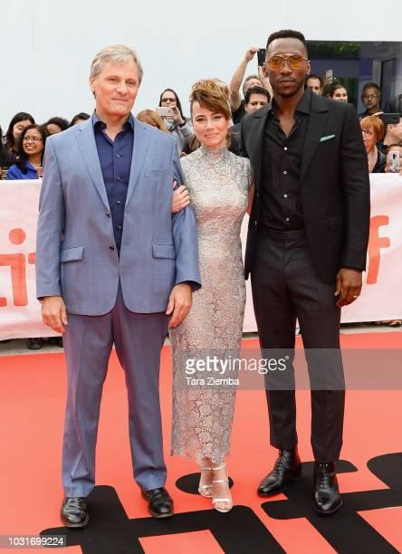 Viggo Mortensen Linda Cardellini and Mahershala Ali attend the 'Green Book' premiere during 2018 Toronto International Film Festival at Roy Thomson...