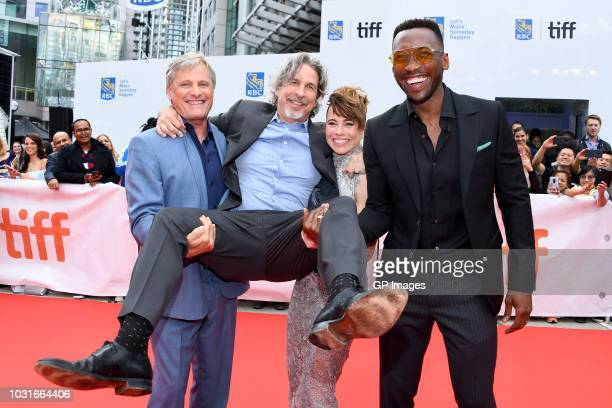 Viggo Mortensen Peter Farrelly Linda Cardellini and Mahershala Ali attend the Green Book premiere during 2018 Toronto International Film Festival at...
