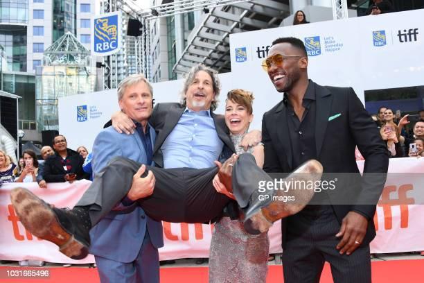 Viggo Mortensen Peter Farrelly Linda Cardellini and Mahershala Ali attend the Green Book premiere during 2018 Toronto International Film Festival at...