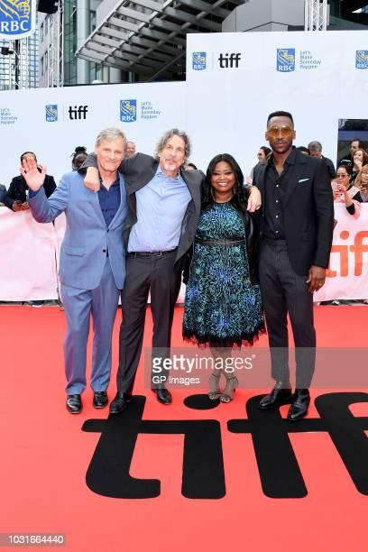 Viggo Mortensen Peter Farrelly Octavia Spencer and Mahershala Ali attend the Green Book premiere during 2018 Toronto International Film Festival at...