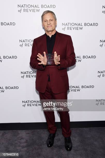 Viggo Mortensen poses backstage with the Best Actor award for Green Book during The National Board of Review Annual Awards Gala at Cipriani 42nd...