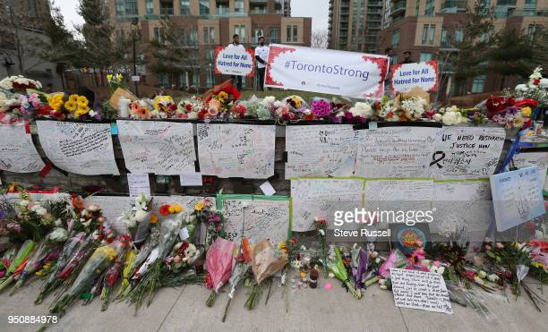 TORONTO ON APRIL 24 A vigil is held at Olive Square near Yonge and Finch Streets for the 10 people that were killed and the 15 injured in the van...