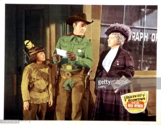 Vigilantes Of Boomtown, lobbycard, Robert Blake, Allan Lane, Martha Wentworth, 1947.