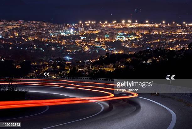 Vigo city at night