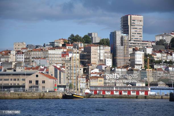 vigo spain view from the sea - vigo stock pictures, royalty-free photos & images