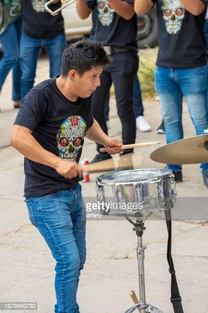 Vigoureux batteur sur le Día de los Muertos, Oaxaca