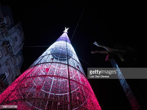 vigo's christmas 2018  (pontevedra - spain) - vigo stock pictures, royalty-free photos & images