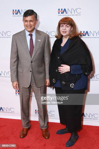 Vijay Dandapani and Lisa Linden during the Hotel Association of New York City hosts 'The Red Carpet Hospitality Gala' HANYC's Annual Dinner/Dance at...