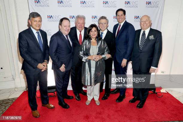 Vijay Dandapani JAmes Nederlander Robert E Wankel Charlotte St Martin and Thomas Schumacher attend The Red Carpet Hospitality Gala Hosted by the...