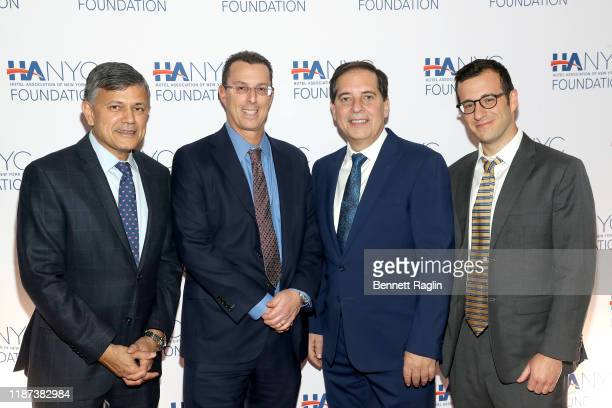 Vijay Dandapani Joel Ditchik Fred Grapstein and Steve Tishco attend The Red Carpet Hospitality Gala Hosted by the Hotel Association Of New York City...
