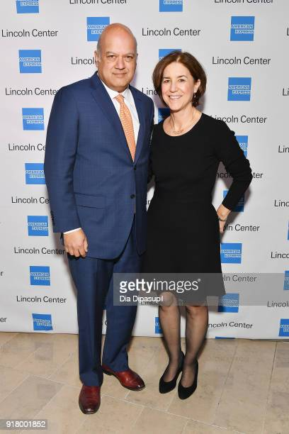 Vijay D'Silva and Mary Lou D'Silva attend the Winter Gala at Lincoln Center at Alice Tully Hall on February 13 2018 in New York City