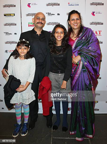Vijay Krishna Acharya and family arrive at the Indian Film Festival of Melbourne Awards at Princess Theatre on May 2 2014 in Melbourne Australia