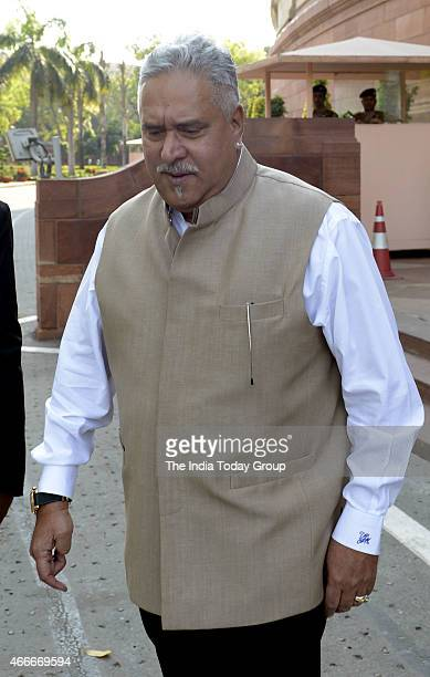 Vijay Mallya at Parliament during Parliament budget Session