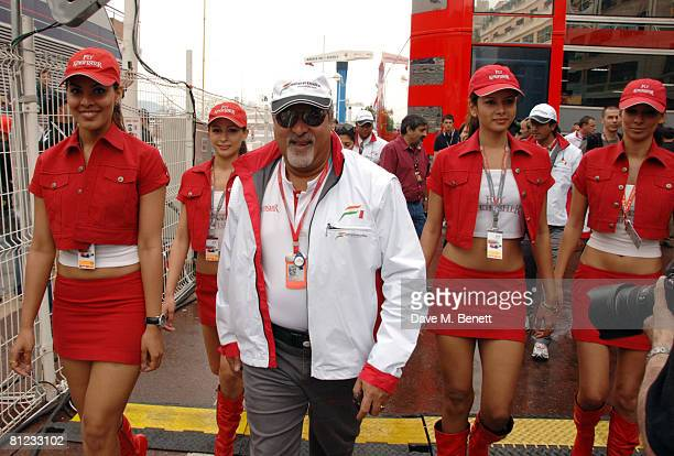 Vijay Mallya during the Monaco Grand Prix 2008 on May 25 2008 in Monte Carlo Monaco